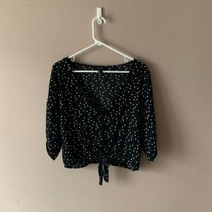 Women's Polka Dotted Crop Top
